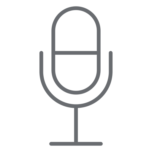 Multimedia microphone stroke icon Transparent PNG