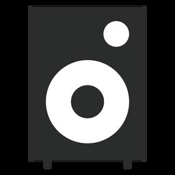 Altavoz multimedia icono plana