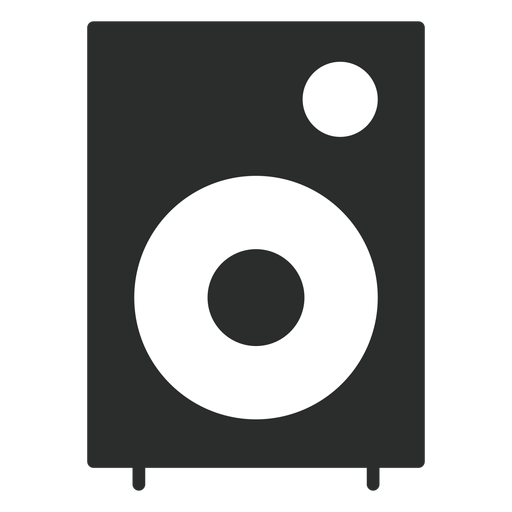 Ícone plana de alto-falante multimídia Transparent PNG
