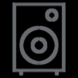 Icono de trazo de altavoz multimedia