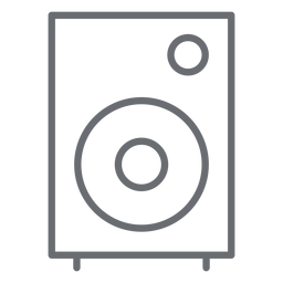 Multimedia speaker stroke icon