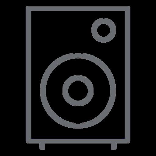 Ícone de traço de alto-falante multimídia Transparent PNG
