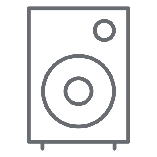 Multimedia speaker stroke icon Transparent PNG