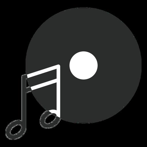 Disco de nota de música ícone plana Transparent PNG