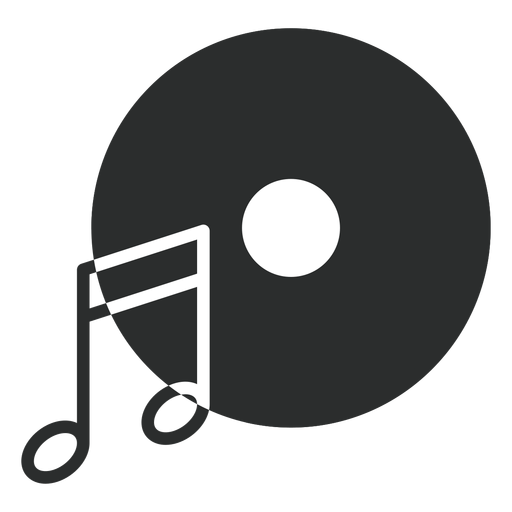 Icono plano del disco de la nota musical Transparent PNG