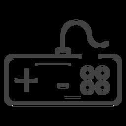 Icono de trazo de gamepad de Nes