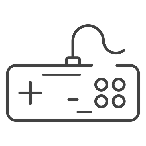 Nes gamepad stroke icon Transparent PNG