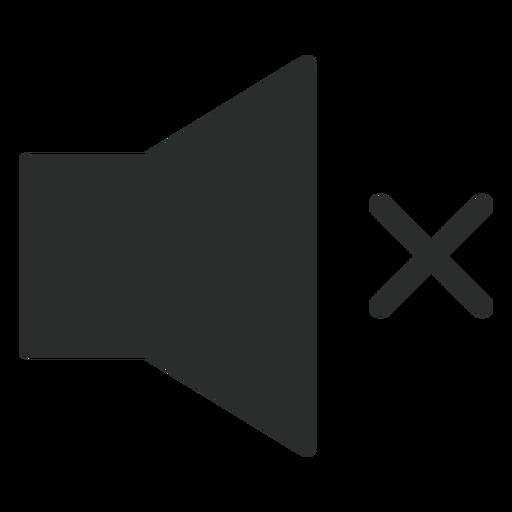 Nenhum ícone plano de som Transparent PNG