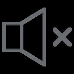 Kein Sound Stroke-Symbol