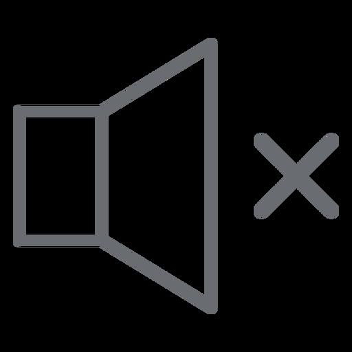 Nenhum ícone de som Transparent PNG