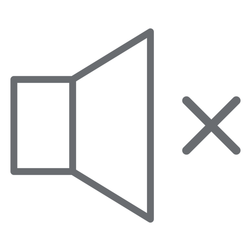 No sound stroke icon Transparent PNG