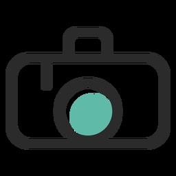 Icono de trazo de color de cámara de fotos
