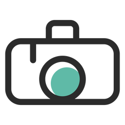 Photo camera colored stroke icon