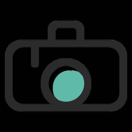 Cámara fotográfica coloreada icono de trazo Transparent PNG