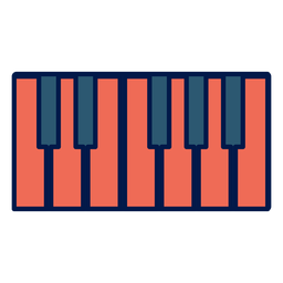 Piano keys school icon