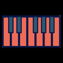 Teclas de piano icono de escuela