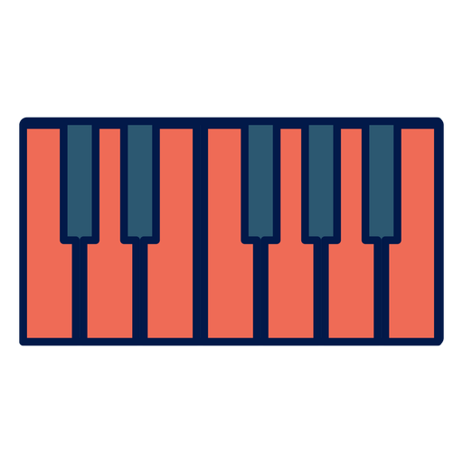 Piano keys school icon Transparent PNG