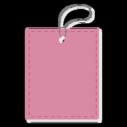 Etiqueta de precio del rectángulo llano