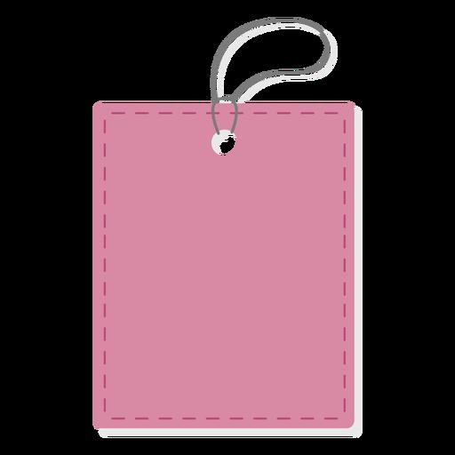 Etiqueta de precio rectangular simple
