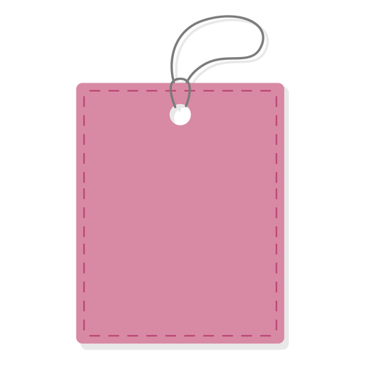 Plain rectangle price tag Transparent PNG