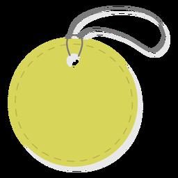 Einfaches rundes Preisschild