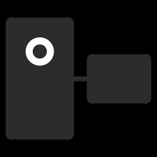 Ícone plana de filmadora de bolso Transparent PNG