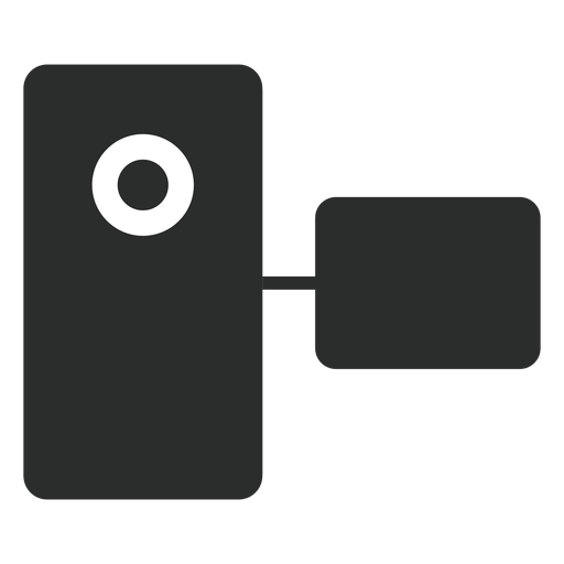 Icono plana videocámara de bolsillo Transparent PNG