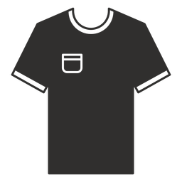 Pocket t shirt flat icon