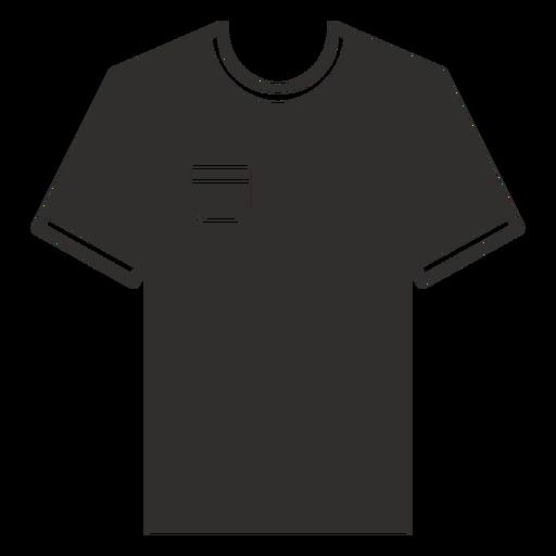 Pocket t shirt flat icon