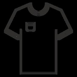 Pocket t shirt icono de trazo