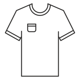 Pocket t shirt stroke icon