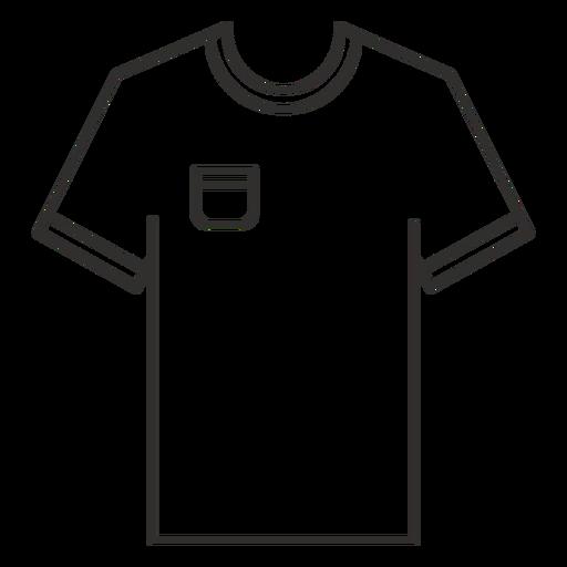 Pocket t shirt stroke icon