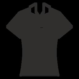 Ícone plana de camisa de Polo