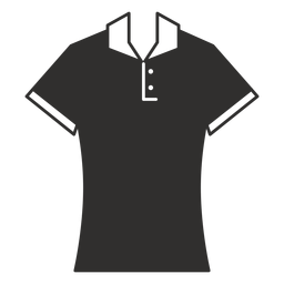 Polo icono de camiseta plana