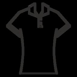 Ícone de traçado de camisa de Polo