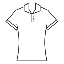 Polo t shirt stroke icon