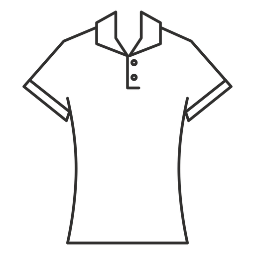 Polo t shirt stroke icon Transparent PNG