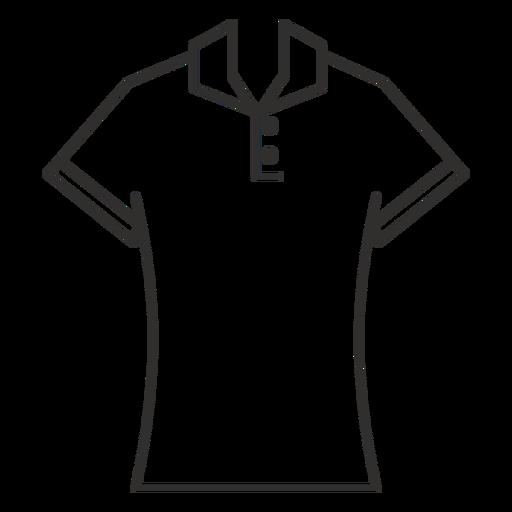 Polo t shirt stroke icon