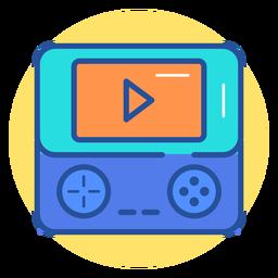Icono de consola de juegos portátil