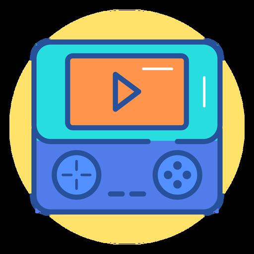 Ícone de console de jogo portátil