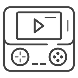 Ícone de traço de console de jogo portátil