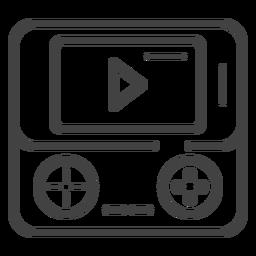 Icono de trazo de consola de juegos portátil