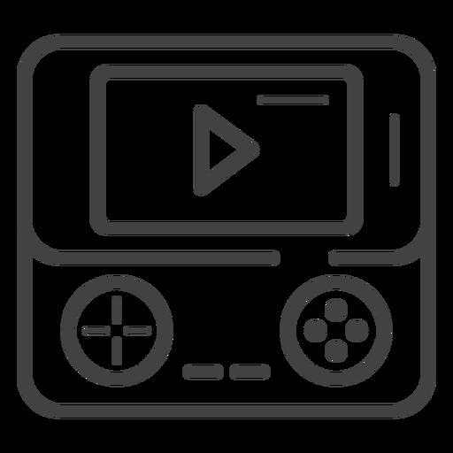 Ícone de traço do console de jogo portátil