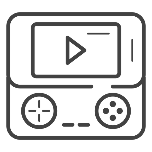 Portable game console stroke icon Transparent PNG