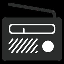 Icono plano de radio portátil