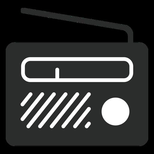 Ícone plano de rádio portátil Transparent PNG