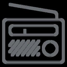 Ícone de traço de rádio portátil