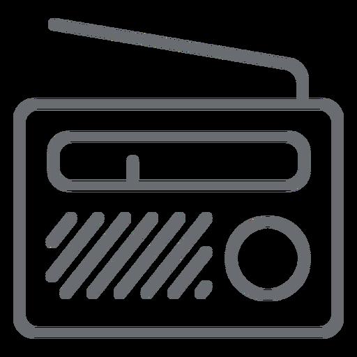 Ícone de traço de rádio portátil Transparent PNG