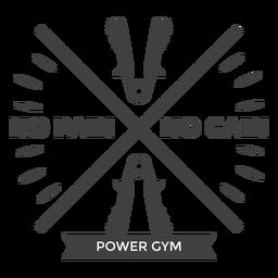 Logotipo de ginásio de energia