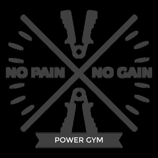 Logo de power gym Transparent PNG